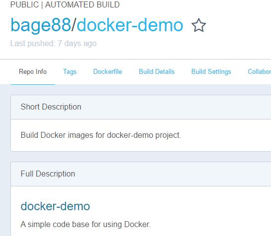 Docker Hub仓库名称